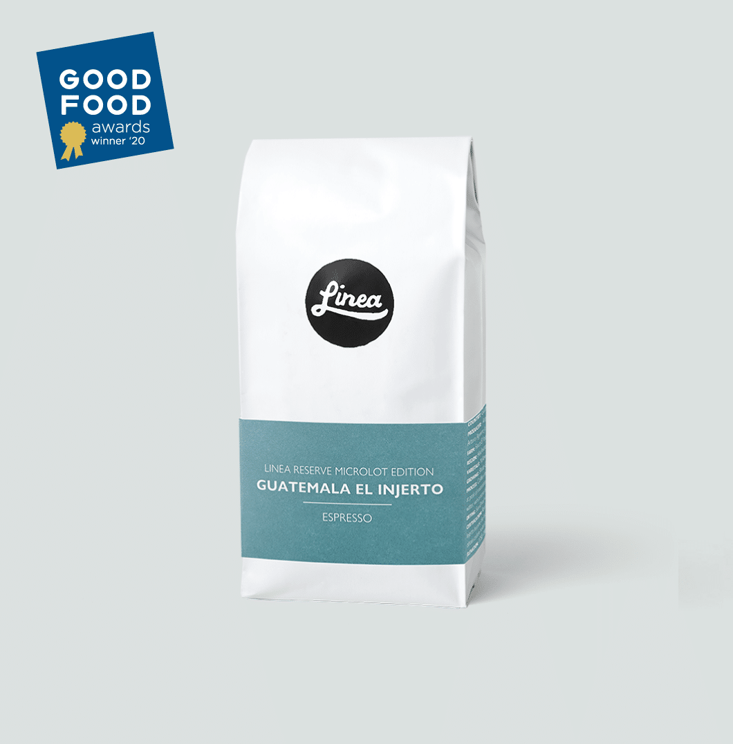 Guatemala El Injerto Espresso coffee with the Good Food Awards Winner '20 badge